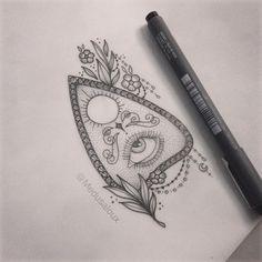 Planchette tattoo - Medusa Lou tattoo artist - medusa_lou@hotmail.com