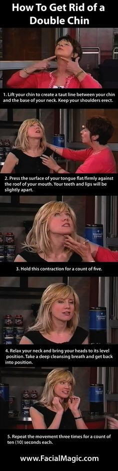 How To Get Rid of a Double Chin Doing Facial Exercise www.FacialMagic.com  Click to view video: www.youtube.com/... #facialexercise