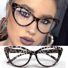 Quality Cat Eye Optical Frames vintage eyeglasses Transparent Computer Glasses Fashion Brand Woman Leopard Spectacles Clear Lens Glasses with free worldwide shipping on AliExpress Mobile Cheap Eyeglasses, Eyeglasses For Women, Sunglasses Women, Pink Eyeglasses, Fashion Eye Glasses, Cat Eye Glasses, Glasses Outfit, New Glasses, Lunette Style