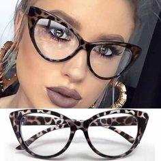 05ae63188c670 Cat Eye - Armação Óculos Feminino Big Gatinho Retrô Vintage - R  49