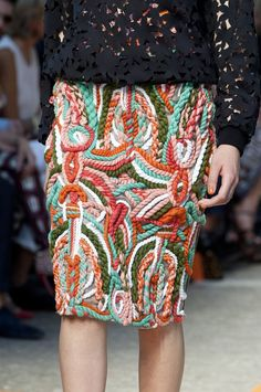 woven textural couture skirt