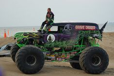Grave Digger Monster Truck created and driven by Dennis Anderson . Kill Devil Hills NC