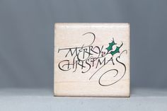 Merry Christmas Nice Script Rubber Stampede Wood & Foam Backed Rubber Stamp            http://autopartspuller.com/ Great Sale 50% off entire store!! Copper, Glassware, Wood Crafts, Scrap Booking   Also Find us on:  http://hometownvintage.com http://autopartspuller.com @HomeTownVintage @autopartspuller @preppershowto http://facebook.com/hometownvtg http://facebook.com/AutoPartsPuller