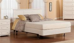 Madison Classic White Solid Wood Metal Queen Platform Headboard Only