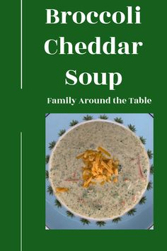 Serve a comforting bowl of Broccoli Cheddar Soup to warm up on a cold afternoon. It comes together quickly and if there are any leftovers, it can be stored in the fridge and reheated easily.