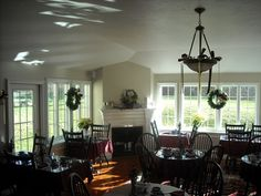 The dining room of The Dunbar Tea Room in the little town of Sandwich (near Cape Cod), Massachusetts