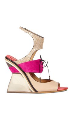 Popping some pink in this #shoeoftheday. Shop Paz Sandal In Bisque by Salvatore Ferragamo for Preorder on Moda Operandi