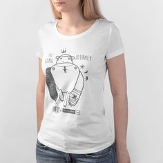 Women's Graphic Tee printed on organic cotton.Shop the coolest Men's and Women's Graphic Tees in white color.Unique Prints for an awesome graphic style