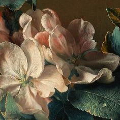 Jan van Huysum. Enlarged a detail of his glorious flowers .