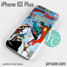 Comic Cover Superman VS Avengers Phone case for iPhone 6S Plus and other devices
