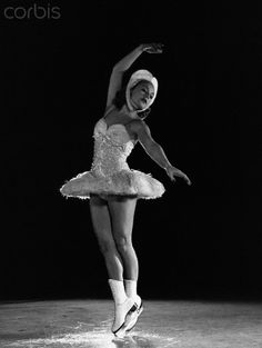 Sonja Henie Swan. Best skater ever. The great  ballerina Tamara Karsavina coached her.