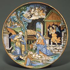 The Nativity  Painted by Fra Xanto Avelli da Rovigo (ca. 1486–ca. 1582)