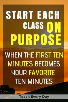 Planning the Beginning of Class on Purpose – Teach Every Day. Make the start of class count, the first ten minutes of class is the. Middle School Classroom, Middle School Science, Math Classroom, Classroom Ideas, Google Classroom, English Classroom, Future Classroom, Classroom Procedures, Classroom Management