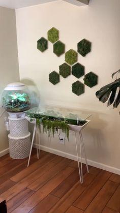 Game Room Decor, Diy Room Decor, Bedroom Decor, Fall Home Decor, Autumn Home, Indoor Garden, Indoor Plants, Plant Aesthetic, Shelves In Bedroom