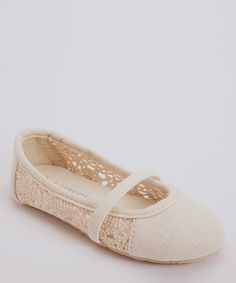 Take a look at this Beige Perforated Flat by Blow-Out on #zulily today! #Fall