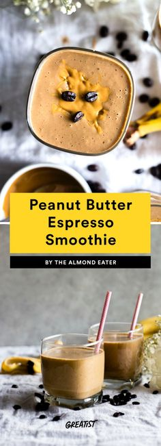 2. Peanut Butter Espresso Smoothie #greatist https://greatist.com/eat/coffee-smoothie-recipes