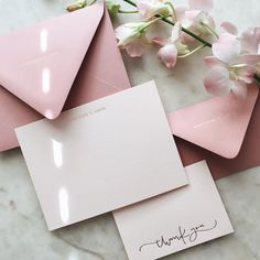 Personalized note card and thank you card.
