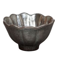 VIETRI Incanto Metallic Scalloped Condiment Bowl
