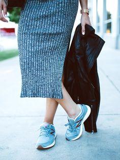 This Vintage-Inspired Sneaker Is a Street Style Essential via @WhoWhatWear