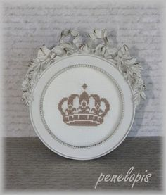 I will eventually make my own crown cross stitch. Every girl needs a crown...