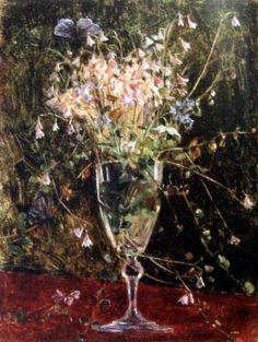 Maria Wiik: Linnea Borealis Female Painters, Artist And Craftsman, See The Sun, Paintings I Love, Phobias, Glass Vase, Alcoholic Drinks, Scenery, Pastel