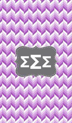 Sigma Sigma Sigma ombre monogram background.