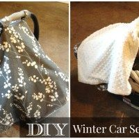Mama Monday: DIY Winter Car Seat Cover