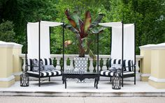 Bold Black and White Chairs >> http://www.hgtvgardens.com/design/outrageous-outdoor-spaces?soc=pinterest&s=5