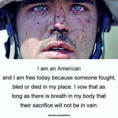 """I Am An American, soldier"" God Bless our military"