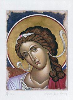 the archangel Raphael Byzantine Art, Orthodox Christian Icons, Art, Angel, Christian Art, Archangel Raphael, Art Icon, Angel Art, Sacred Art