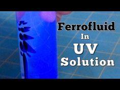 Ferrofluid Suspended In UV Reactive Solution