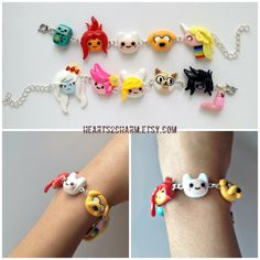 Adventure Time Charm Bracelet Choose up to 6 of by Hearts2Charm, $25.00