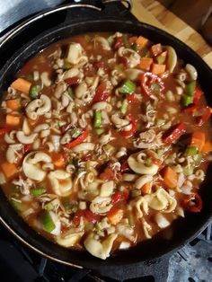 Hardy Mexican Chicken Tortellini Soup – The Outdoor Redhead – January meal plan Chicken Tortellini Soup, Cheese Tortellini, Mexican Chicken Salads, Sweet Bell Peppers, Salad Topping, Stuffed Whole Chicken, Rotisserie Chicken, Meal Planning, Meal Prep