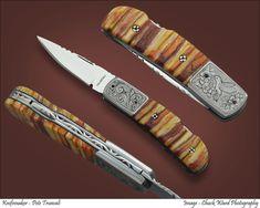 Mammoth Tooth, Knife Art, Knife Making, Folding Knives, Swords, Edc, Highlight, Bones, Hobbies