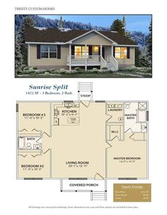Take a look at all of Trinity Custom Homes Georgia floor plans here! We have a l… Take a look at all of Trinity Custom Homes Georgia floor plans here! We have a lot to offer, so contact us today for more information. Small House Floor Plans, Dream House Plans, Simple Floor Plans, Simple Home Plans, Custom House Plans, Square Floor Plans, Little House Plans, Barn Homes Floor Plans, Square House Plans