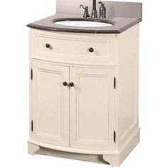 24 Inch Bathroom Vanity Combo | The Pegasus Arcadia Combo Bathroom Vanity 25 Inches Antique White ...