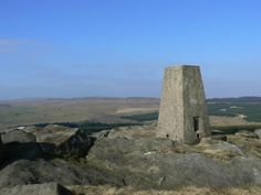 The trig point on Whelpstone Crag in the Forest of Bowland