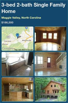 Properties for Sale - Family Home in Maggie Valley, North Carolina Maggie Valley North Carolina, North Carolina Homes, Wrap Around Deck, Jetted Tub, Shower Faucet, Shower Doors, Single Family, Home And Family, Florida