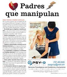 Puedes salir de la manipulación, padres toxicos y emociones contradictorias.● Psy-Q Group, Inc.● Servicios Psicológicos● (787) 460-0626● www.psy-qgroup.com