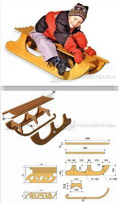 DIY Wooden Sleigh - Children's Plans and Projects | WoodArchivist.com #woodworkingplans