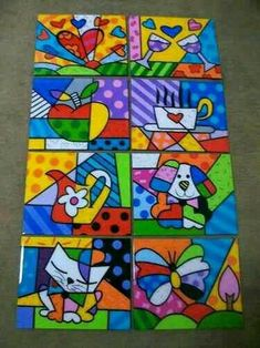 Love this pop art Arte Country, Ecole Art, Middle School Art, Arte Pop, Art Plastique, Teaching Art, Elementary Art, Art Education, Painted Rocks