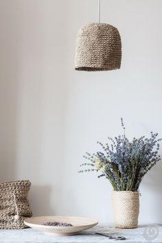 DIY Light  from rope  - knitting Tako se naredi (DIY) :: Luči - naredi sam