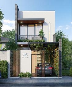 Nhà Gray Things wagon r vxi gray color Minimal House Design, Modern Small House Design, Modern Minimalist House, Modern Exterior House Designs, House Front Design, Modern Architecture House, Exterior Design, Architecture Design, Minimalist Interior