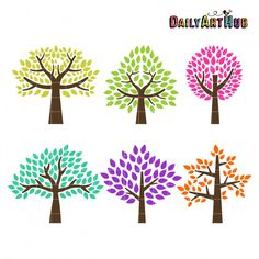 Trees by Daily Art Hub (Freebie) with SVGs