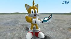 Tails from Sonic With A 3DS by JordanBluFox.deviantart.com on @deviantART hahahaha he looks way too excited