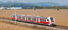"""Slovak train ZSSK class 861 """"RegioMover"""" made by ŽOS Vrútky"""