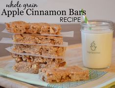 Apple Cinnamon Bars Recipe - perfect healthy snack for toddlers!