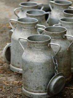 Farm:  Down on the #farm ~ milk pails.