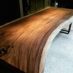 3.0m x 1.25m Suar Table with Black Powdercoated Legs x Herman Furniture Singapore
