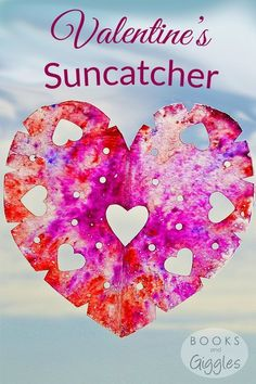 How to make a suncatcher for Valentine's Day - a fun activity to do with kids